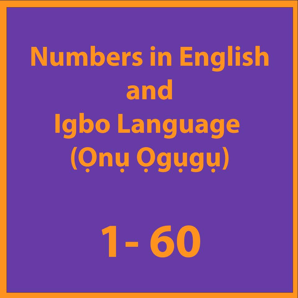 Numbers in English(Ọnụ Ọgụgụ)